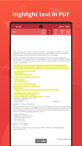 PDF Reader & Editor for Android screenshot 7