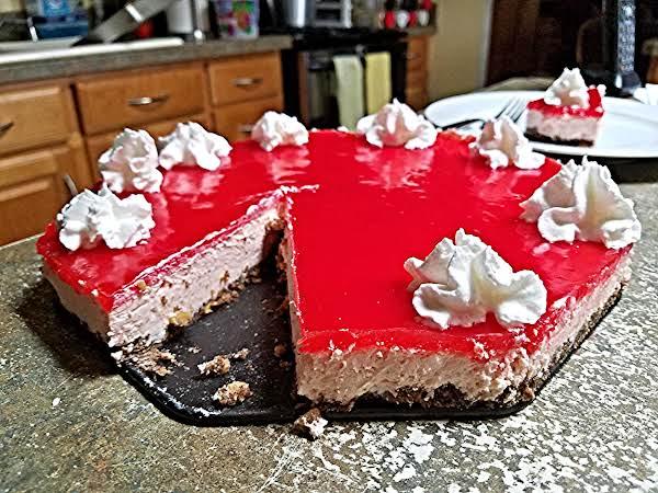Carb Friendly Cheesecake W/strawberry S F Glaze