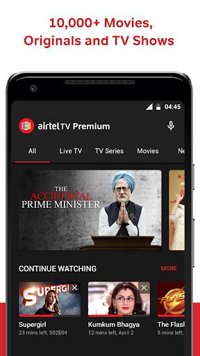 Airtel TV: Live TV, News, Movies, TV Shows 1.17.5 screenshots 1