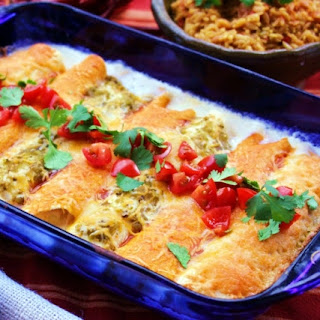 "Creamy ""Work Week"" Chicken Enchiladas"