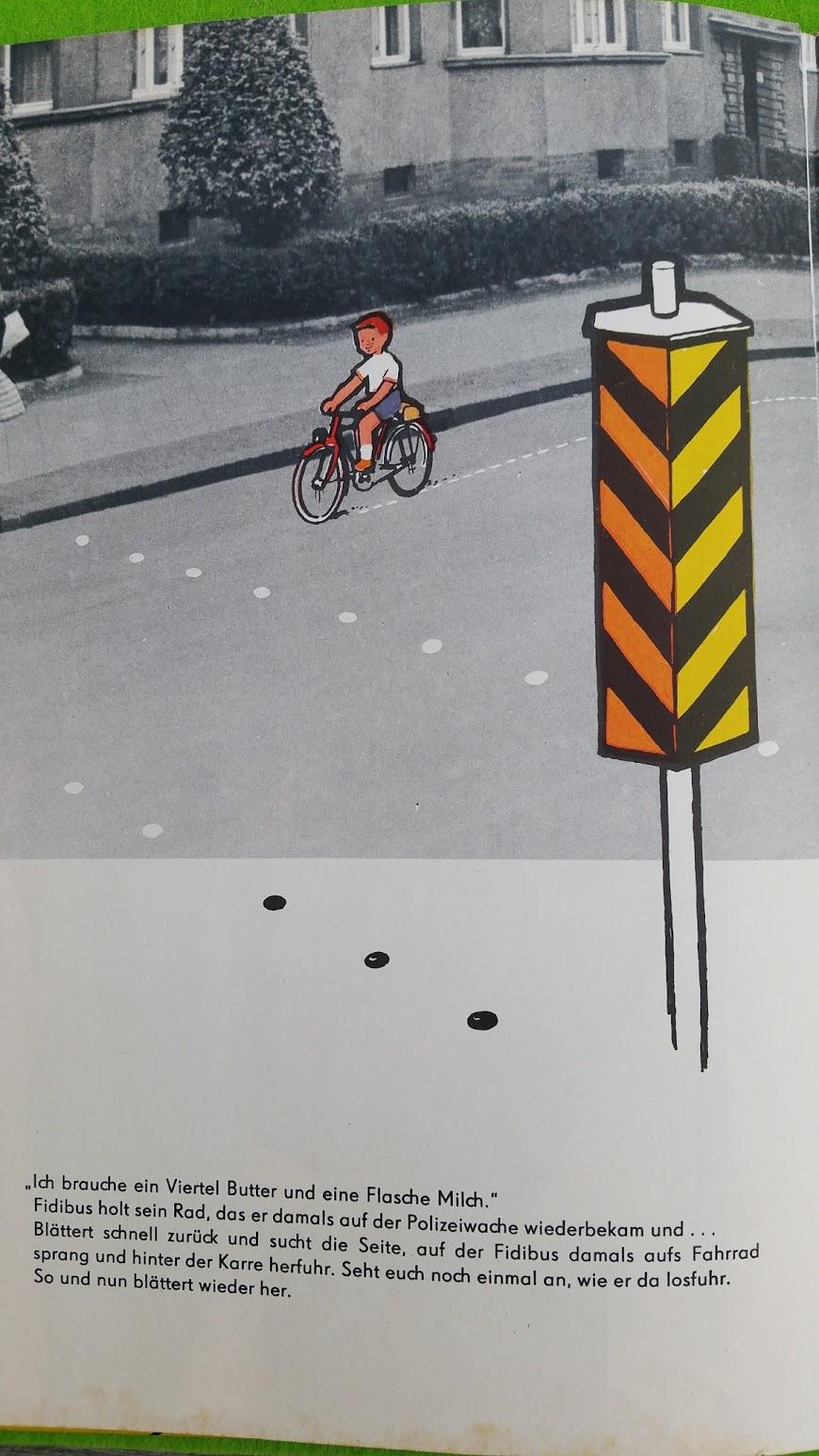 Fidibus paß auf - Kinderbuch zur Verkehrserziehung - DDR - 1959