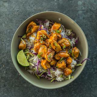 Honey Sriracha Chicken & Veggie Jasmine Rice Recipe