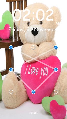 android Teddy Bear Pattern-Bildschirm Screenshot 5