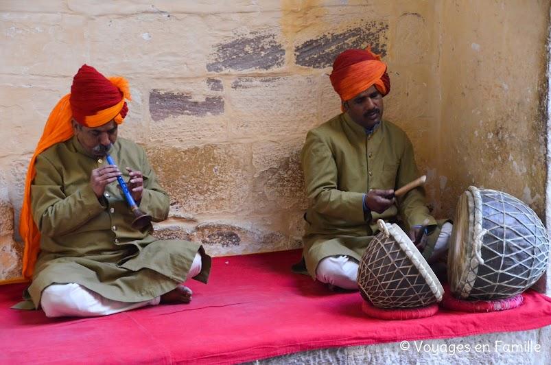 Mehrangarh fort, musicians