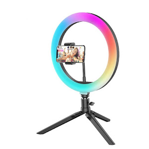 Lampa circulara Ring Light 120 LED BlitzWolf BW-SL5 RGB, telecomanda