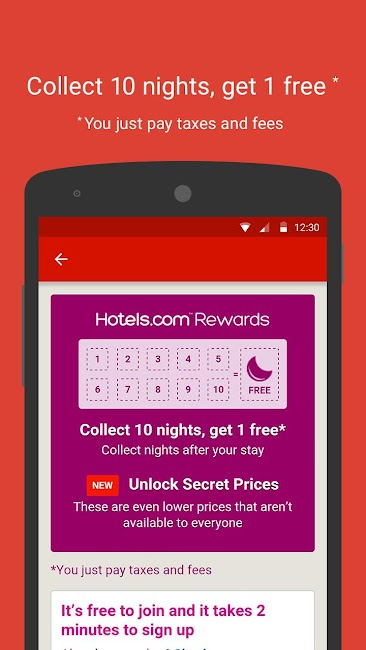 #1. Hotels.com – Hotel Reservation (Android)