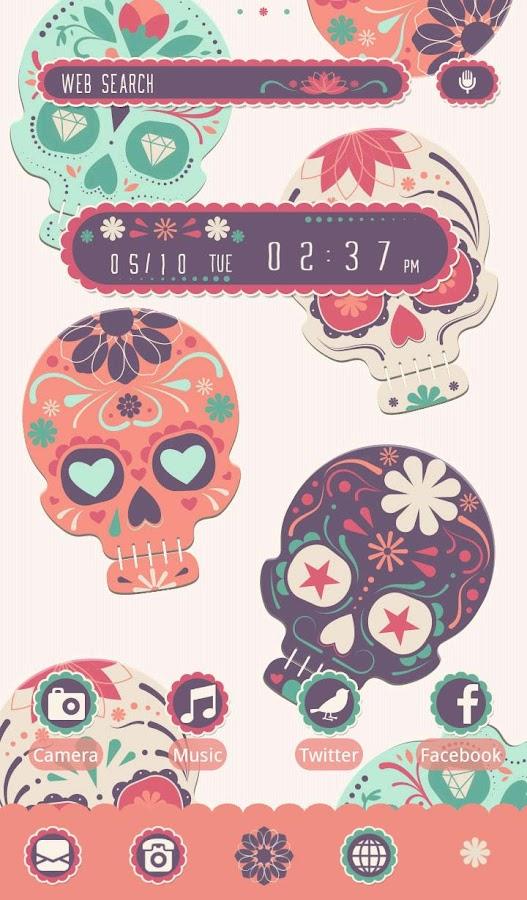 Sugar skull wallpaper android apps on google play sugar skull wallpaper screenshot voltagebd Choice Image