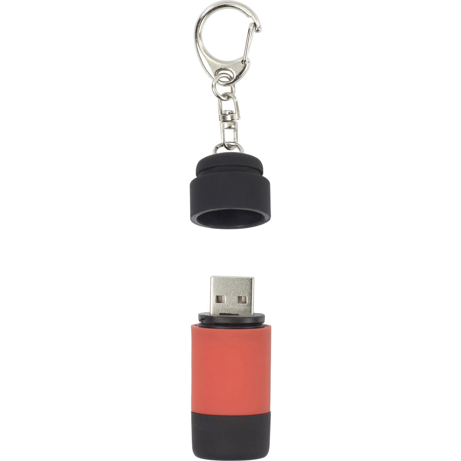 Branded Mini Torch & USB Keyring - Green
