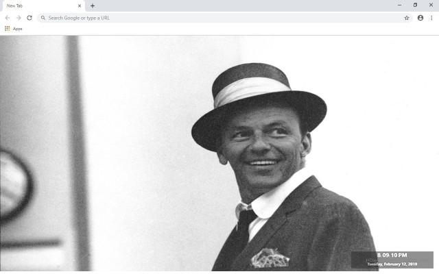Frank Sinatra New Tab & Wallpapers Collection