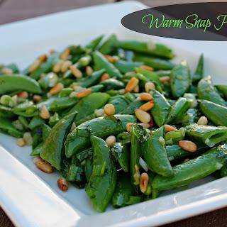 Warm Snap Pea Salad