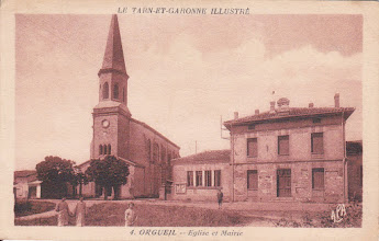 Photo: Orgueil (82) - Eglise et Mairie 