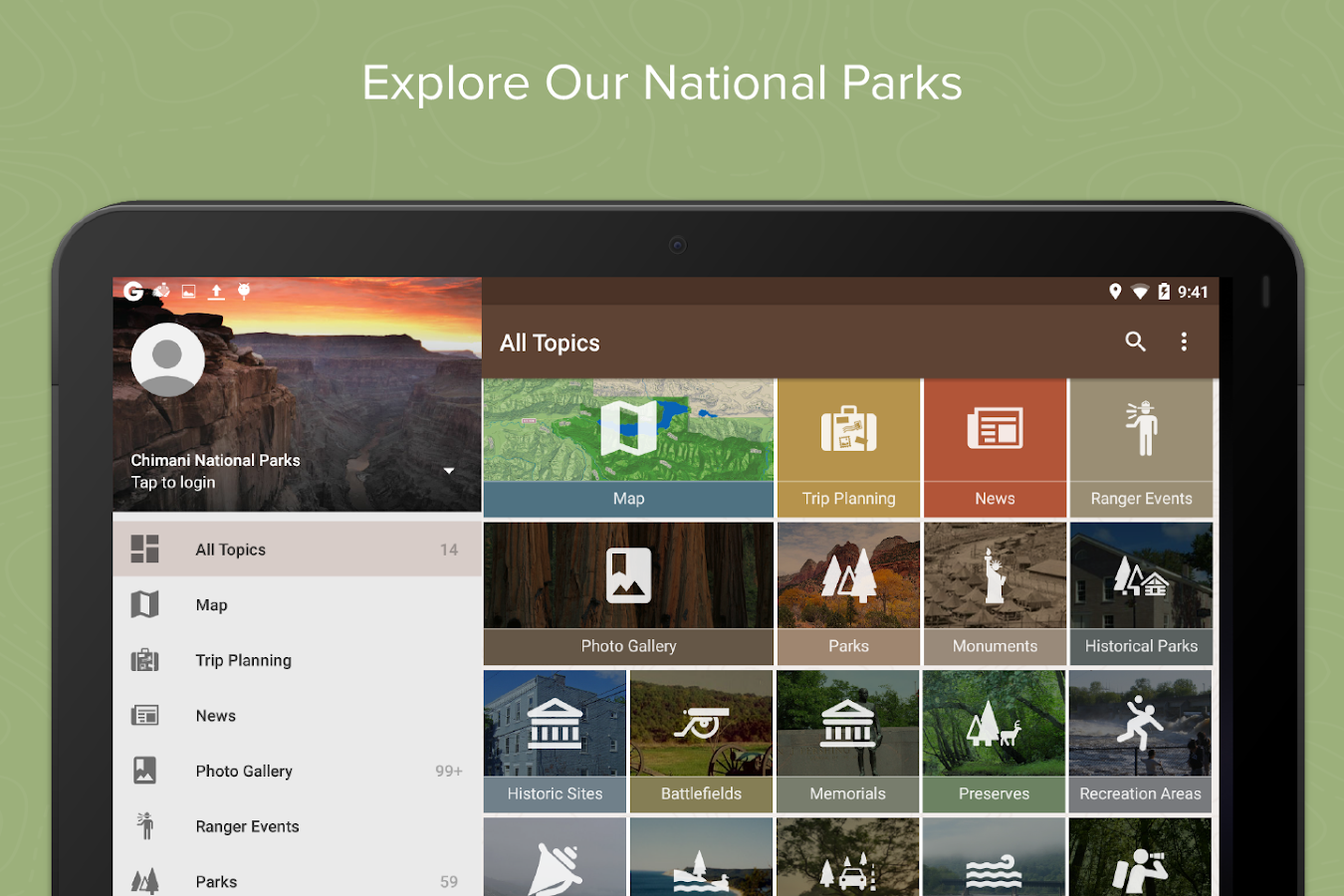 Chimani National Parks - screenshot
