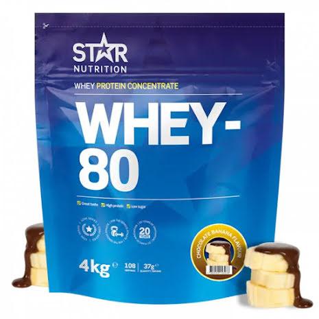 Star Nutrition Whey 80 4kg - Chocolate Banana