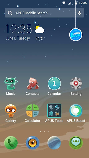 Alien fission theme for APUS