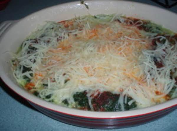 Baked Spinach With Cheese