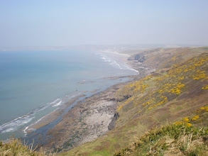 Photo: From Broad Haven to Solva (bkgrd: Newgale)