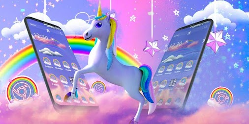 Rainbow unicorn APK screenshot thumbnail 1