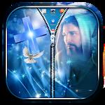 Jesus Zipper Lock Screen Icon