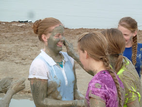Photo: Some of my siblings were more adventurous than others... (I would have to say that I enjoyed taking pictures much more than I would have enjoyed the mud...)