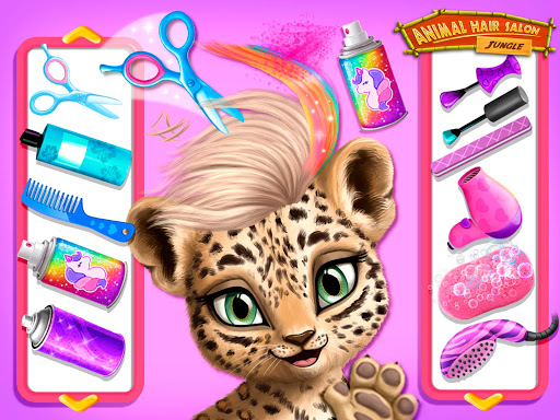 Jungle Animal Hair Salon - Styling Game for Kids android2mod screenshots 11