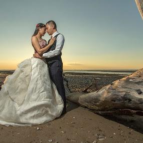 sunset by Gideon Sooai - Wedding Bride & Groom