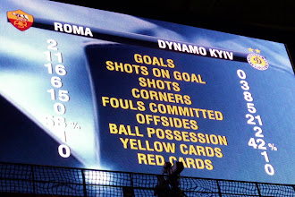 Photo: AS Roma (the home team) wins 2-0...they dominated the game and it could have easily been 4-0 as they hit two posts