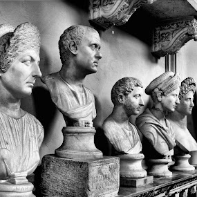 The Lineup by Rita Uriel - Artistic Objects Other Objects ( statue, bust, stone, museum, vatican, head,  )