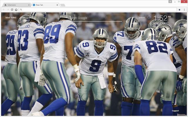 NFL Dallas Cowboys Wallpaper HD Custom NewTab