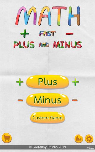 Math Fast Plus and Minus apktreat screenshots 1