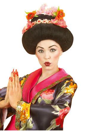 Peruk, Geisha med blommor