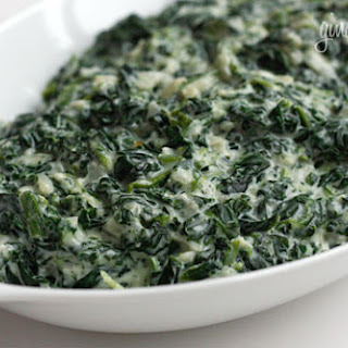 Creamed Spinach – Lightened Up Recipe