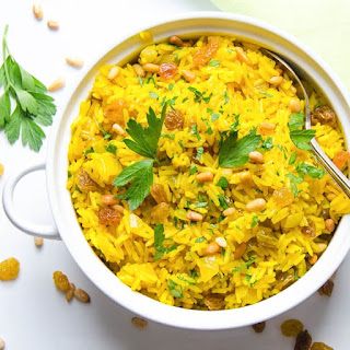 Jeweled Yellow Rice and Pignoli Recipe