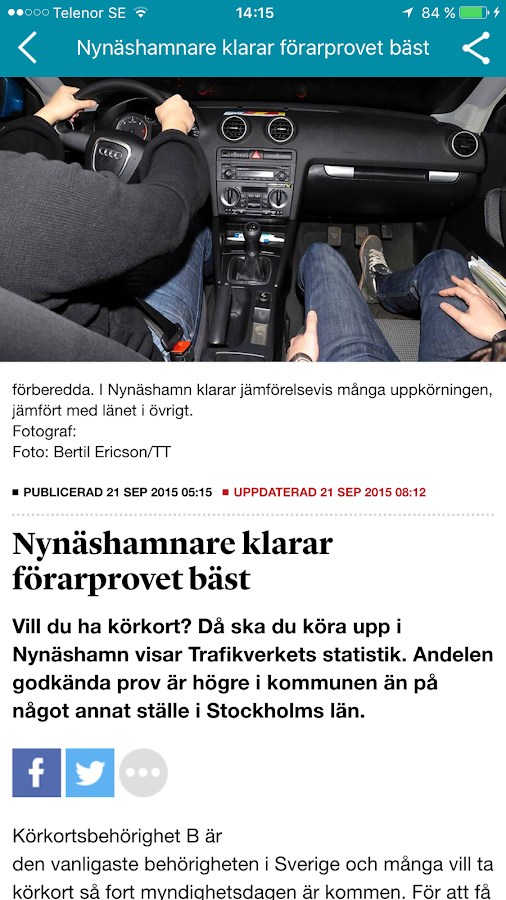 Nynäshamns Posten- screenshot