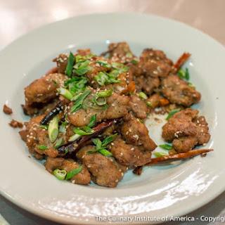 Szechuan Pork With Flaming Chilies.