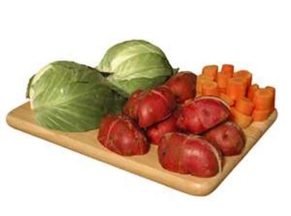 Par boil the vegetables. Carrots on the bottom, let cook for a few min,...