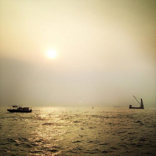 Sunset, hong kong, harbor, Victoria Harbor, 維多利亞港, 日落, 香港