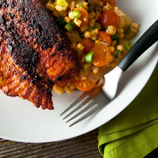 Blackened Catfish with Maque Choux