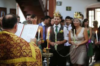 Photo: Сватбена церемония в църквата на село Падина