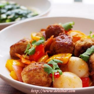 Sweet & Sour Lychee Meatballs