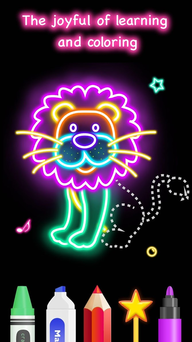Draw Glow Animals Android 4