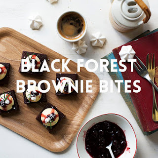 Black Forest Brownie Bites