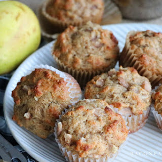Spiced Bakery Style Ginger Pear Muffins Recipe