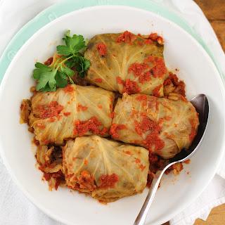 Wild Rice and Mushroom Cabbage Rolls Recipe