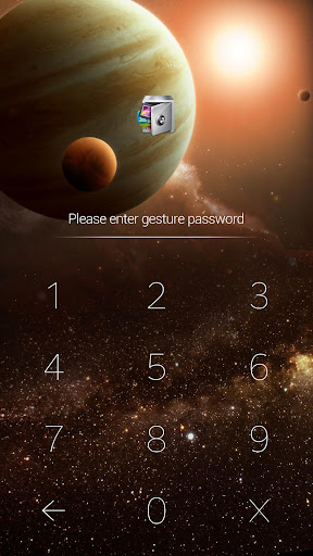 AppLock Theme Universe 1.0 screenshots 2