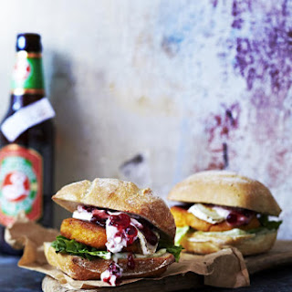 Sweet Potato Burger with Goat Cheese.