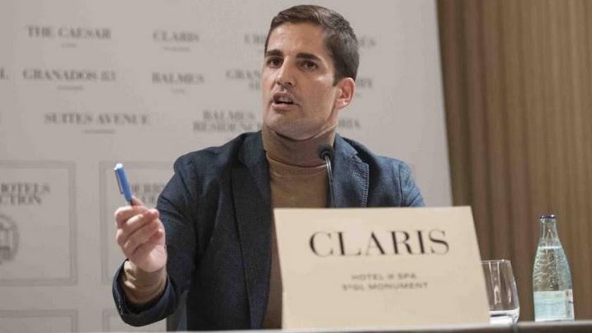 Robert Moreno en la rueda de prensa.