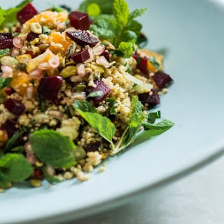 Millet With Roast Beetroot And Pistachio Salad