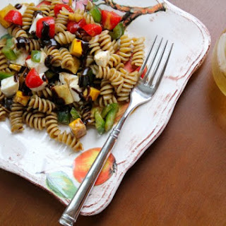 Fresh Pasta Salad with Herbed Balsamic Dressing