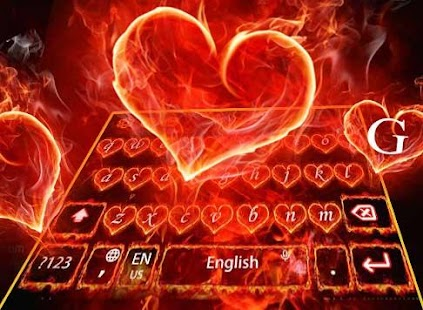 Red Fire Heart Keyboard Theme- screenshot thumbnail