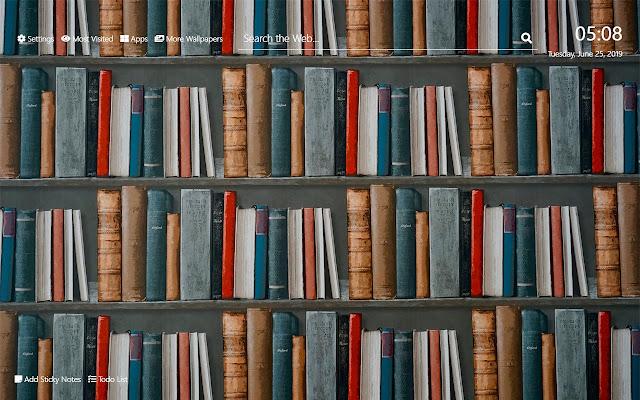 Books Wallpaper HD New Tab Theme